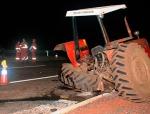 Motorista morre ao colidir na traseira de trator, naBR-262