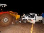 Acidente envolve carro e trator deixa homem ferido –Portal21
