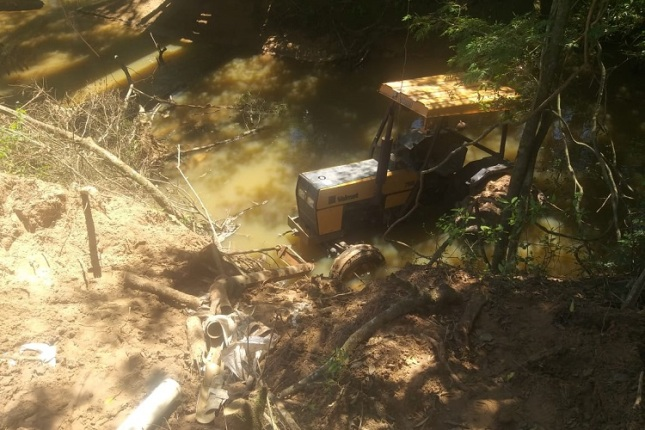 Homem trabalhava na propriedade rural quando o acidente aconteceu | Foto: Folha de Candelária
